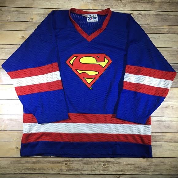 DC Comics Other - Vintage Superman Hockey Jersey - Men s XL e0365611ab0